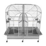 large stainless steel birdcage